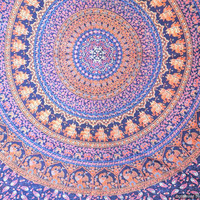 Hippie Mandala Tapestry Wall Hanging , Indian Mandala Tapestry Throw Bedspread, Dorm Tapestry, Couch Sofa Cover, Dorm Mandala Tapestries
