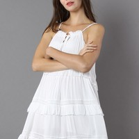 Tiers For Fun Cotton Slip Dress