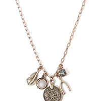 Mixed Charm Longline Necklace
