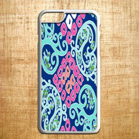 lily pulitzer blue square for iphone 4/4s/5/5s/5c/6/6+, Samsung S3/S4/S5/S6, iPad 2/3/4/Air/Mini, iPod 4/5, Samsung Note 3/4, HTC One, Nexus Case *AP*