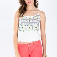 Electric Embroidered Cami