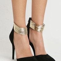 Strappy Metallic Ankle Pump
