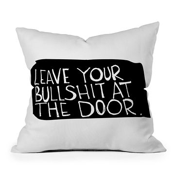 Leeana Benson Leave Your Bs Throw Pillow