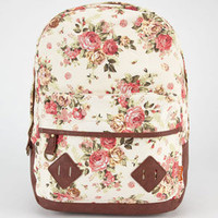 Carrot Company Floral Print Backpack Beige One Size For Women 23782042601