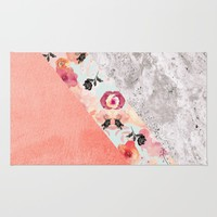 MIX IT BABY - CORAL MARBLE Rug by Monika Strigel | Society6