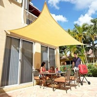 Sail Shade Canopy Patio Deck Cover Rectangle or Triangle Green or Natural Ready to Hang