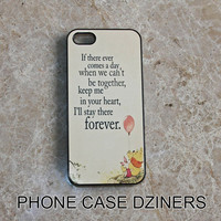 iPhone 4s case iPhone 4 case iPhone 5 case Iphone 5s case Pooh bear quote