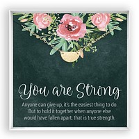 You are Strong  Half Circle Necklace