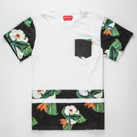 Ayc Forbidden Jungle Mens Pocket Tee White  In Sizes
