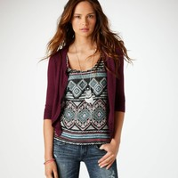 AE Crystal Button Cardigan | American Eagle Outfitters