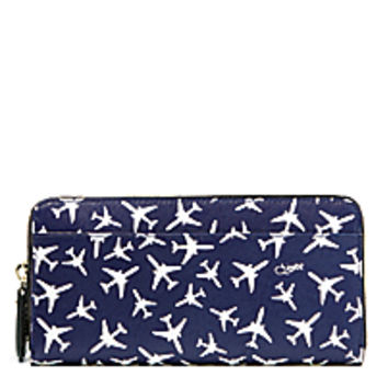 DVF Voyage Zip Continental Leather Wallet