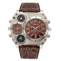 Mens Outdoor Sports Casual Leather Watch Army Style Watches Hight Quality Best Christmas Gift