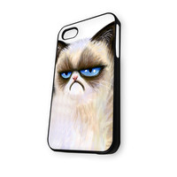 Angry cat grumpy iPhone 5/5S Case