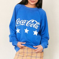 Vintage Coca-Cola Blue Sweatshirt - Urban Outfitters