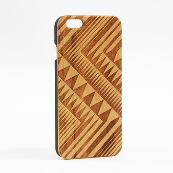 Geometric Triangle Wood Engraved iPhone 6 Case/Plus/5s/5