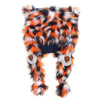 Chicago Bears Forever Collectibles Ladies Oversized Plush Fluffy Hat