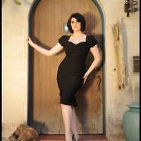 Mary Ann Dress in Black   Pinup Girl Clothing