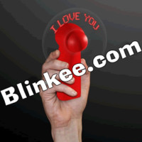 LED I Love You Fan Red