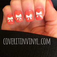 Bow Nail Decals - Set of 50