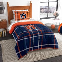 Auburn Tigers NCAA Twin Comforter Bed in a Bag (Soft & Cozy) (64in x 86in)