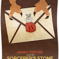 Harry Potter and the Sorcerer's Stone Minimalist Poster by risarodil
