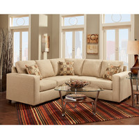 Exceptional Designs Vivid Beige Fabric Sectional