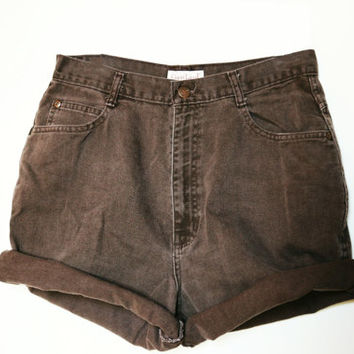SALE - Brown High Waisted Shorts