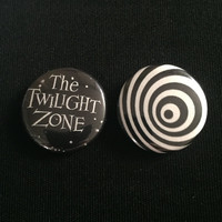 "Handmade The Twilight Zone 1"" Button Lapel Pin"