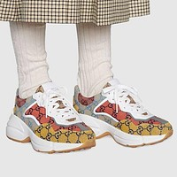 GG Men's and Women's Double G Platform Sneakers Shoes