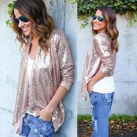 Women's  Sequin New Cardigan /Jacket - Free Shipping