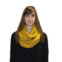 Cable Knit Scarf, Knit scarves, knit infinity scarf, women's cold weather scarf, winter scarf, yellow infinity scarf, mustard yellow scarf