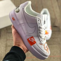 NIKE AIR FORCE 1 2019 new graffiti printing men and women casual sports shoes #2