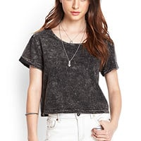 FOREVER 21 Mineral Wash Boxy Tee Charcoal