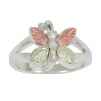 Black Hills Gold Sterling Silver Butterfly Ring