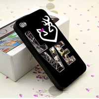 Black Love Browning Deer Camo   - iPhone 4/4s, iPhone 5, Samsung S3, Samsung S4 Print Hard Case, Black or White