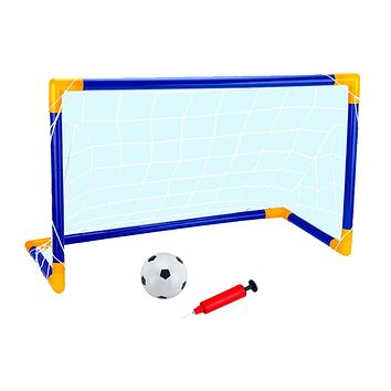 90cm Portable Soccer Goal Set, Football Gate & Football with Pump, Kids Outdoor Play Toy Gift
