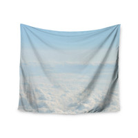 "Chcelsea Victoria ""Softly"" Blue White Wall Tapestry"