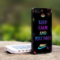 Keep Calm And Just Do It Nike Logo - For iPhone 5 Black Case Cover