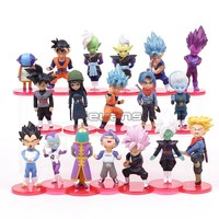 Dragon Ball Super PVC Figures Toys 18pcs/set Super Saiyan Blue Son Goku Gohan Vegeta Trunks Mai Zamasu Goku Black
