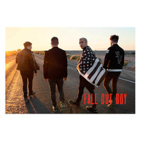 Fall Out Boy Walking Poster