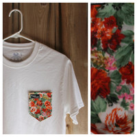 Colorful Guarden Flower Print Paige's Pocket Tee