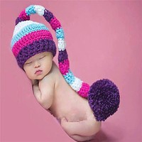Baby born Photography Props Accessories Handmade Baby Girl Caps Hats Beanies Costume Knitted born Baby Hat