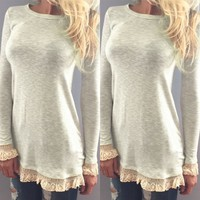 Perfect Summer Top with Lace
