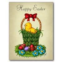 Cute Easter Chicken Post Cards from Zazzle.com