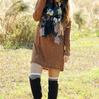 Below Zero Dress: Camel