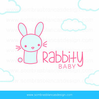 OOAK Premade Logo Design - Pastel Rabbit - Perfect for a baby clothes boutique or a kawaii accessories shop