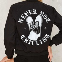 Never Not Chilling Embroidered Jacket