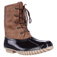 The Orginal Duck Boot Arianna Flannel Lined Boots, Tan/Brown, 6 US
