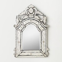 French Rococo Etched Dresser Mirror
