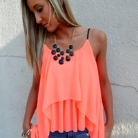 Neon Coral Tank